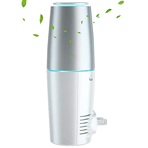HomeZens Portable Plug in Air Purifier for Viruses and Bacteria, UV-C Light Sanitizer Eliminate and Sanitize Germs & Odor, Keep Air Clean for Bedroom, Kitchen, Bathroom, Pet Area, Small Rooms