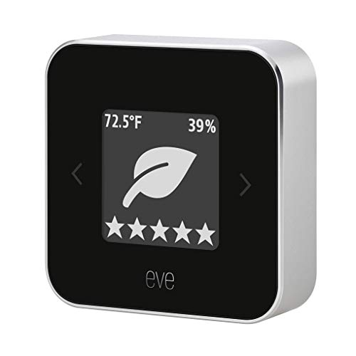 Eve Room - Apple HomeKit Smart Home Indoor Air Quality Monitor for Tracking VOC, Temperature, & Humidity