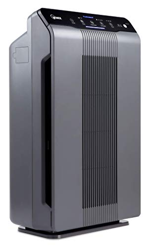 Winix 5300-2 Air Purifier with True HEPA, PlasmaWave and Odor Reducing Carbon Filter,Gray