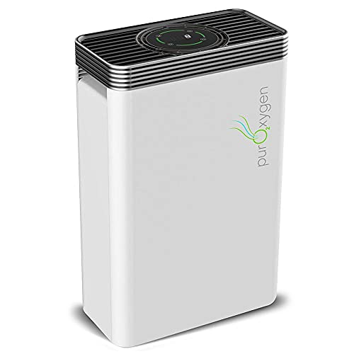 PURO²XYGEN P500 - Hepa Air Purifier for Home with UV Light Sanitizer & Ionizer, Up to 550 sq ft Large Room Air Purifier, 6-Stage Air Cleaner for Smoke, Odor, Dust, Pet Dander, Mold, Allergens