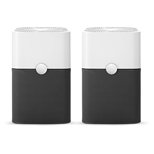 Blueair Blue Pure 211+ Air Purifier, 3 Stage with Two Washable Pre, Particle, Carbon Filter, Captures Allergens, Odors, Smoke, Mold, Dust, Germs, Pets, Smokers, Large Room (Pack of 2), White, 2 Count
