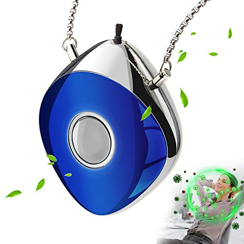 AirDinbor Electronic Air Necklace, Negative Ion Air Necklace Wearable for Both Kids and Adults, Blue
