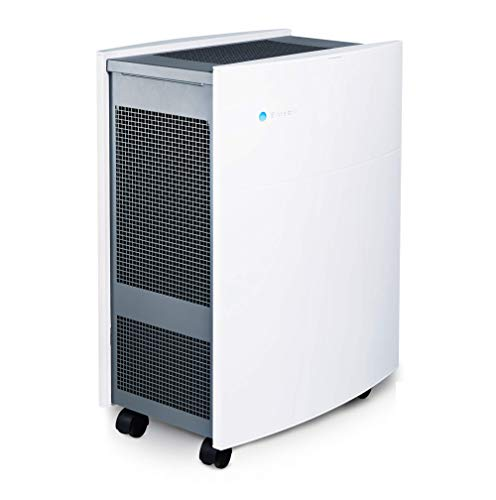 Blueair Classic 605 Air Purifier with HEPASilent Filtration for Allergen and Hay Fever Reduction, Large Rooms 775 sq. ft. WiFi Enabled, ALEXA compatible , White