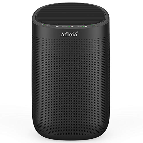 Afloia Air Purifiers and Dehumidifier in One H13 True HEPA Air Purifier 34oz(1000ml) Small Dehumidifiers for Home Bedroom Office (215 sq ft) Remove Odor Dust Smoke Pollen Pet Dander Moisture