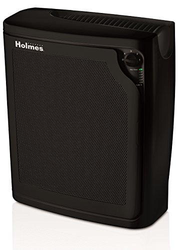 Holmes kzdkc Large Room 4-Speed True HEPA Air Purifier, Medium, Black