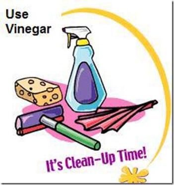clean with vinegar