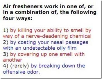 how air freshener works